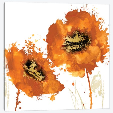 Flower Burst In Mandarin I Canvas Print #AUS16} by Vanessa Austin Canvas Art Print