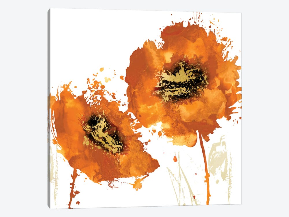 Flower Burst In Mandarin I by Vanessa Austin 1-piece Canvas Wall Art