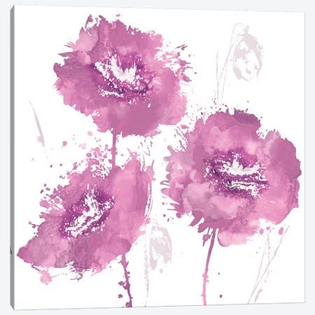 Flower Burst In Pink I Canvas Print #AUS18} by Vanessa Austin Canvas Artwork