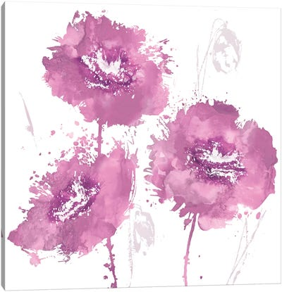 Flower Burst In Pink I Canvas Art Print