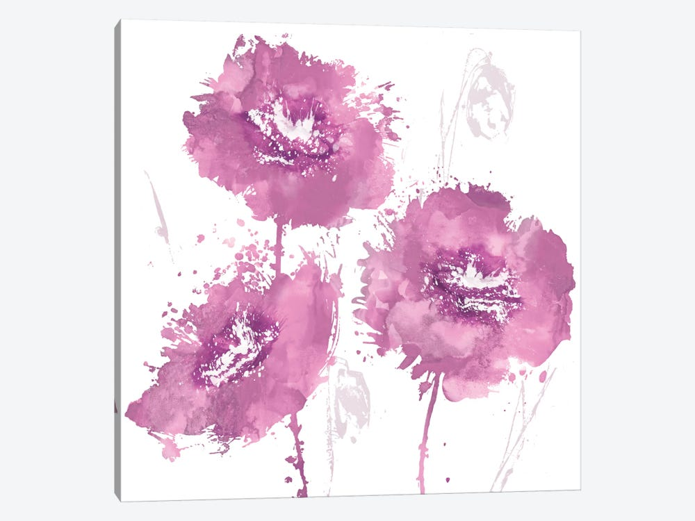 Flower Burst In Pink I 1-piece Canvas Artwork