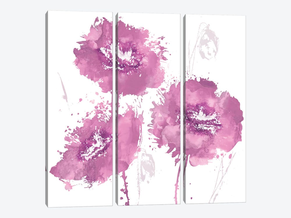 Flower Burst In Pink I 3-piece Canvas Artwork