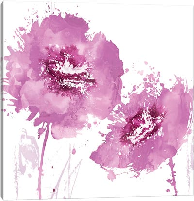 Flower Burst In Pink II Canvas Art Print