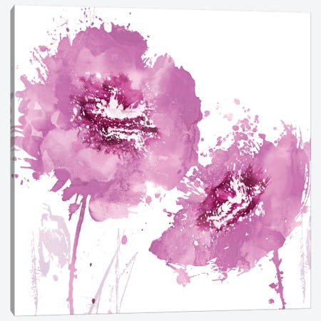 Flower Burst In Pink II Canvas Print #AUS19} by Vanessa Austin Canvas Wall Art