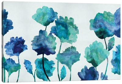 Aqua Blossom Canvas Print #AUS1