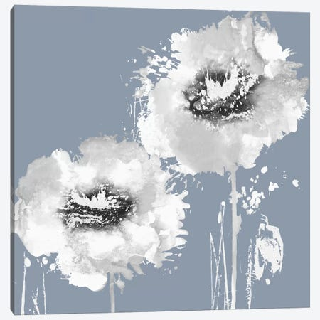 Flower Burst On Grey I Canvas Print #AUS20} by Vanessa Austin Canvas Print