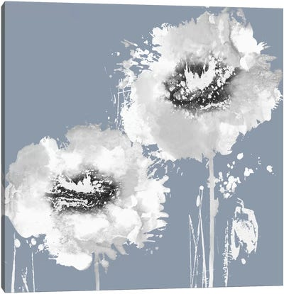 Flower Burst On Grey I Canvas Art Print