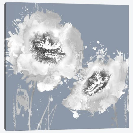 Flower Burst On Grey II Canvas Print #AUS21} by Vanessa Austin Art Print