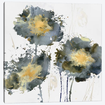 Flower Burst Trio Canvas Print #AUS22} by Vanessa Austin Art Print