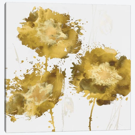 Golden Flower Burst I Canvas Print #AUS25} by Vanessa Austin Canvas Art