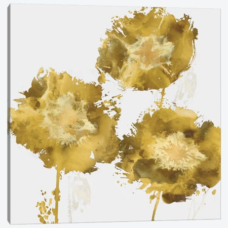 Golden Flower Burst II Canvas Print #AUS26} by Vanessa Austin Canvas Wall Art