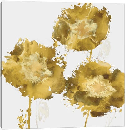 Golden Flower Burst II Canvas Art Print
