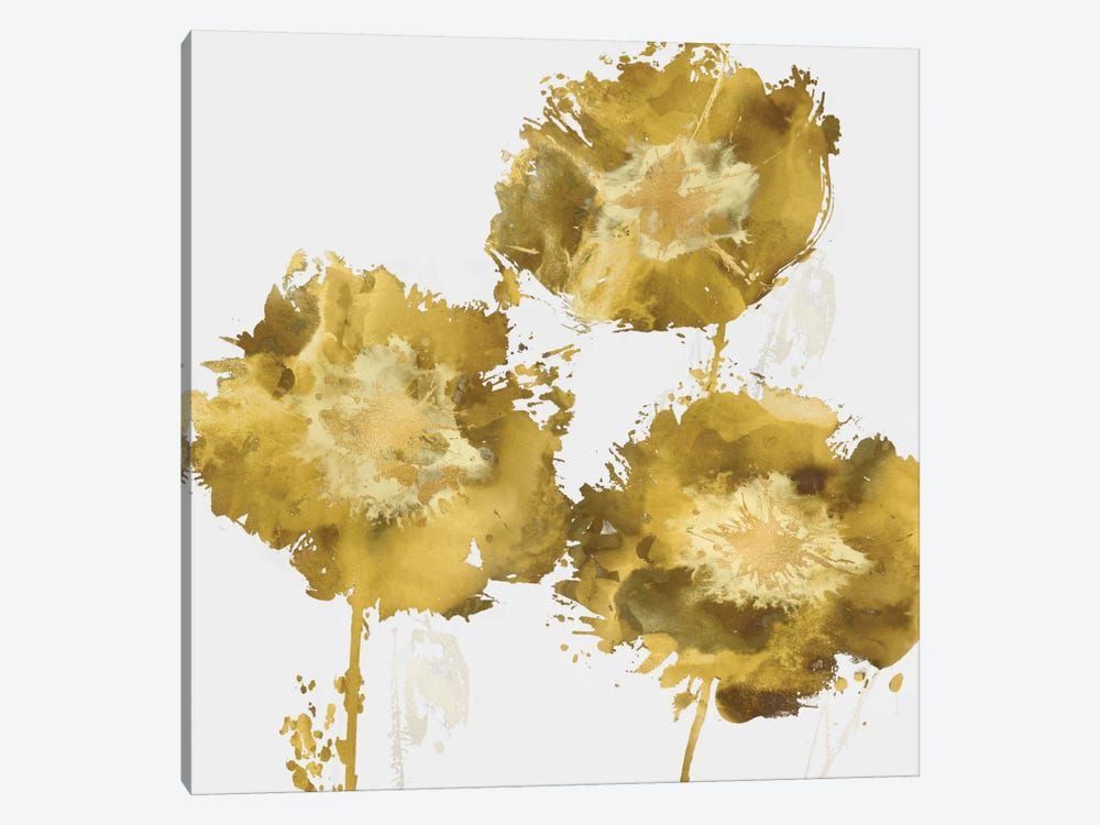 Golden Flower Burst II by Vanessa Austin 1-piece Canvas Print