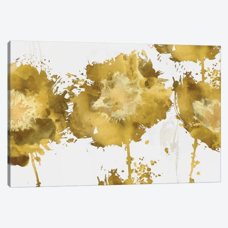 Golden Flower Burst Trio Canvas Print #AUS27} by Vanessa Austin Canvas Artwork