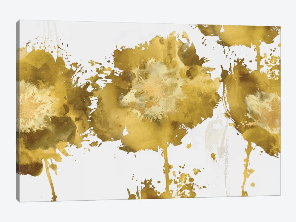 Golden Flower Burst Trio by Vanessa Austin 1-piece Canvas Art