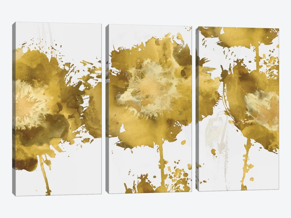 Golden Flower Burst Trio by Vanessa Austin 3-piece Canvas Art
