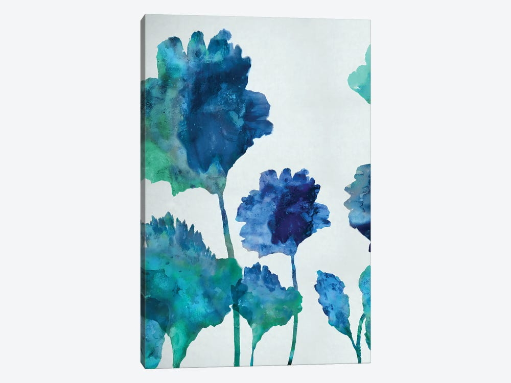 Aqua Blossom Triptych I by Vanessa Austin 1-piece Art Print