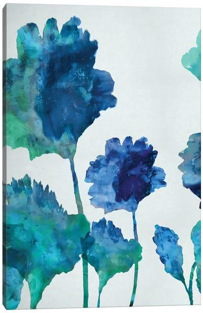 Aqua Blossom Triptych I Canvas Print #AUS2