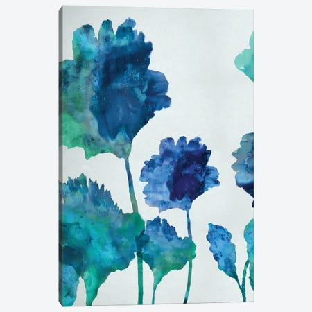 Aqua Blossom Triptych I Canvas Print #AUS2} by Vanessa Austin Art Print
