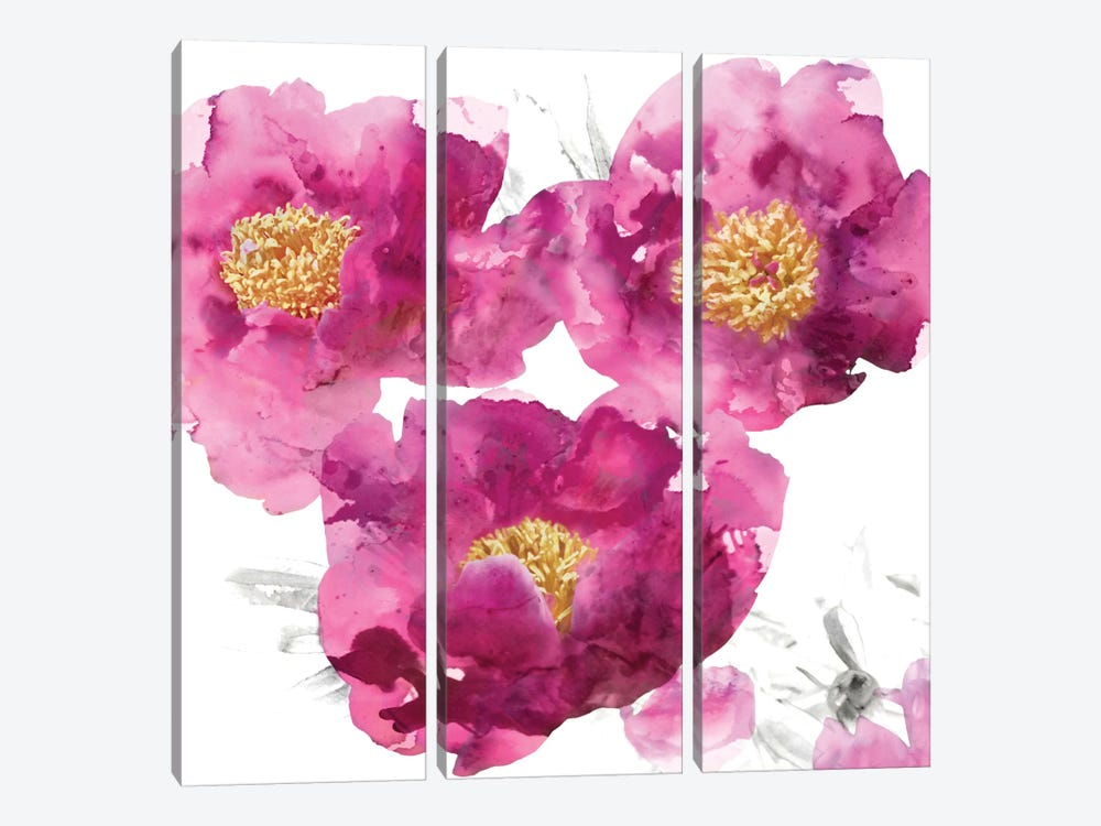 Pink Bloom II by Vanessa Austin 3-piece Canvas Print