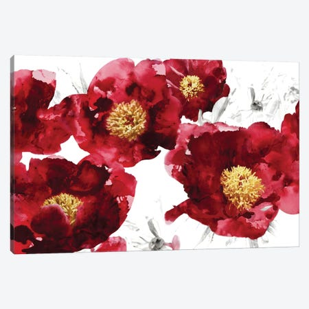 Red Bloom Canvas Print #AUS33} by Vanessa Austin Canvas Art