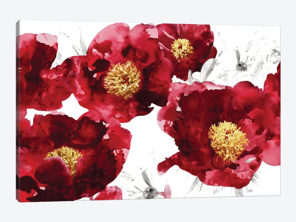 Red Bloom 1-piece Canvas Print
