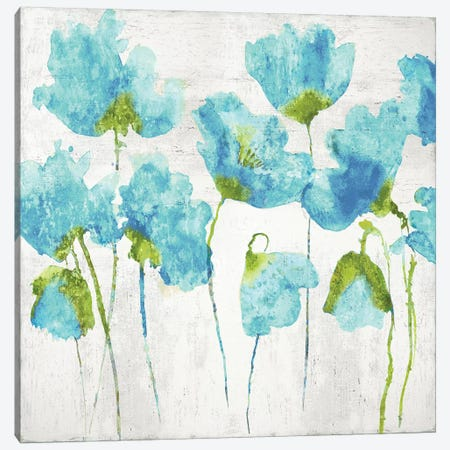 Aqua Friends I Canvas Print #AUS34} by Vanessa Austin Canvas Art Print