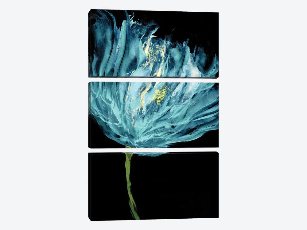 Aqua Tulips I by Vanessa Austin 3-piece Canvas Artwork