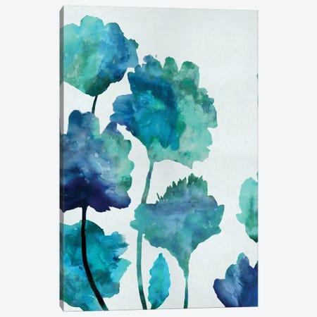 Aqua Blossom Triptych II Canvas Print #AUS3} by Vanessa Austin Canvas Art Print