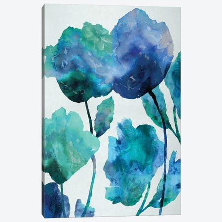 Aqua Blossom Triptych III Canvas Print #AUS4} by Vanessa Austin Canvas Wall Art