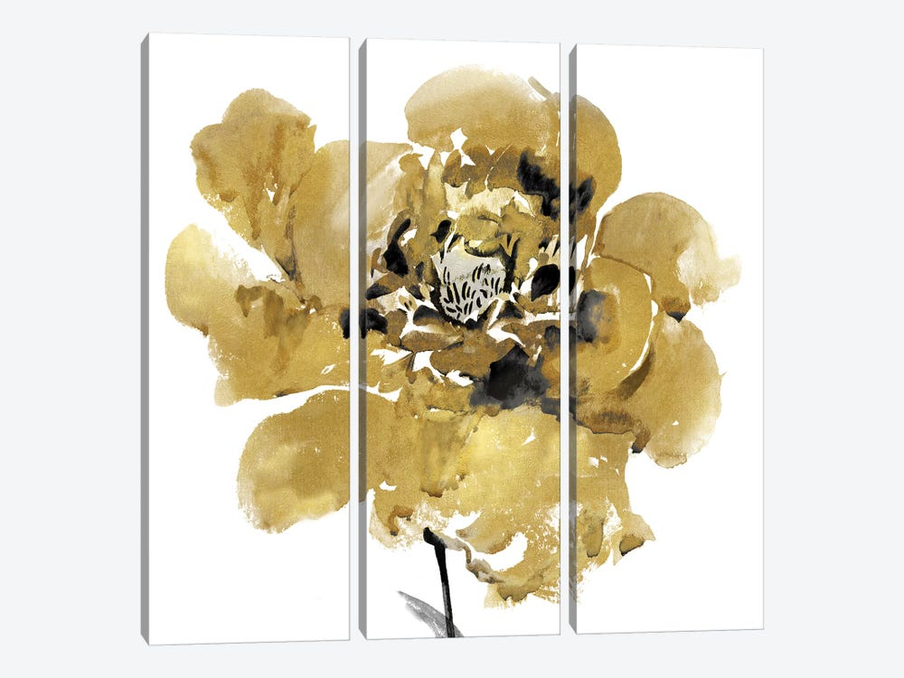 Golden II 3-piece Canvas Print