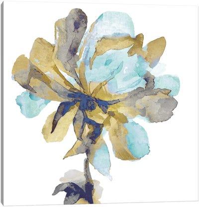 Fresh Bloom Aqua I Canvas Art Print
