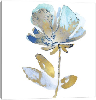 Fresh Bloom Aqua II Canvas Art Print