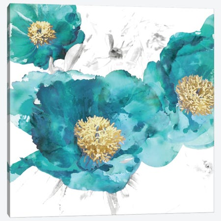 Aqua Trio I Canvas Print #AUS5} by Vanessa Austin Canvas Art
