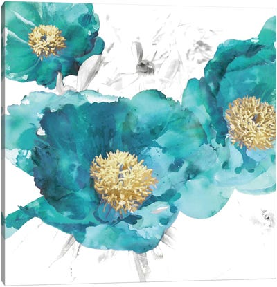 Aqua Trio I Canvas Art Print