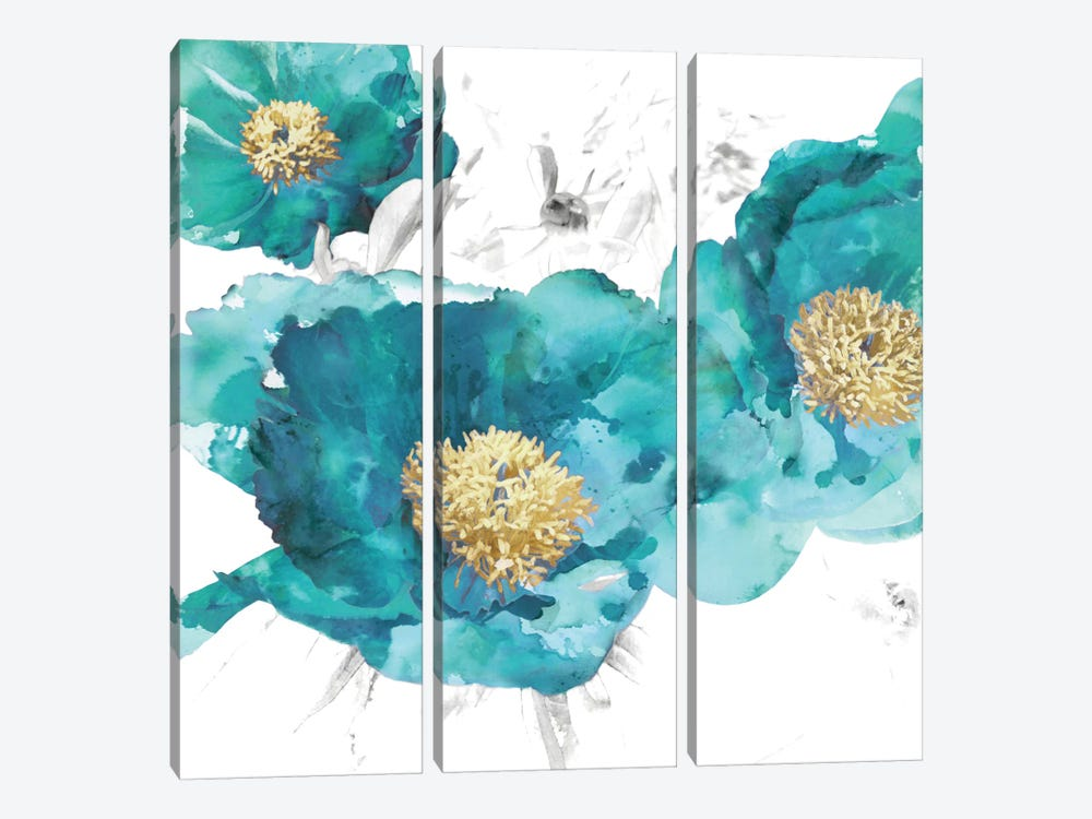 Aqua Trio I by Vanessa Austin 3-piece Canvas Wall Art
