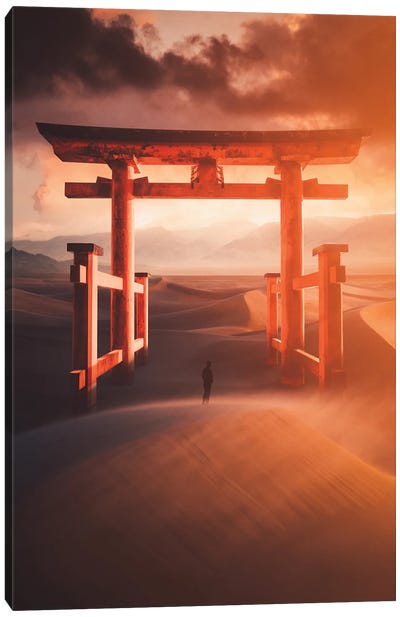 Fire Gate Canvas Art Print