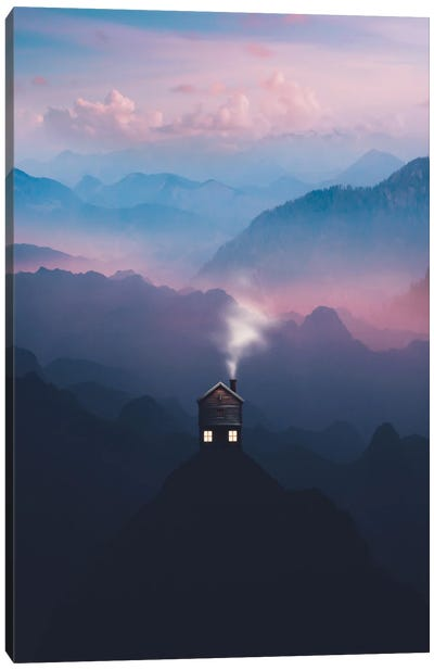 Lone Cabin Canvas Art Print