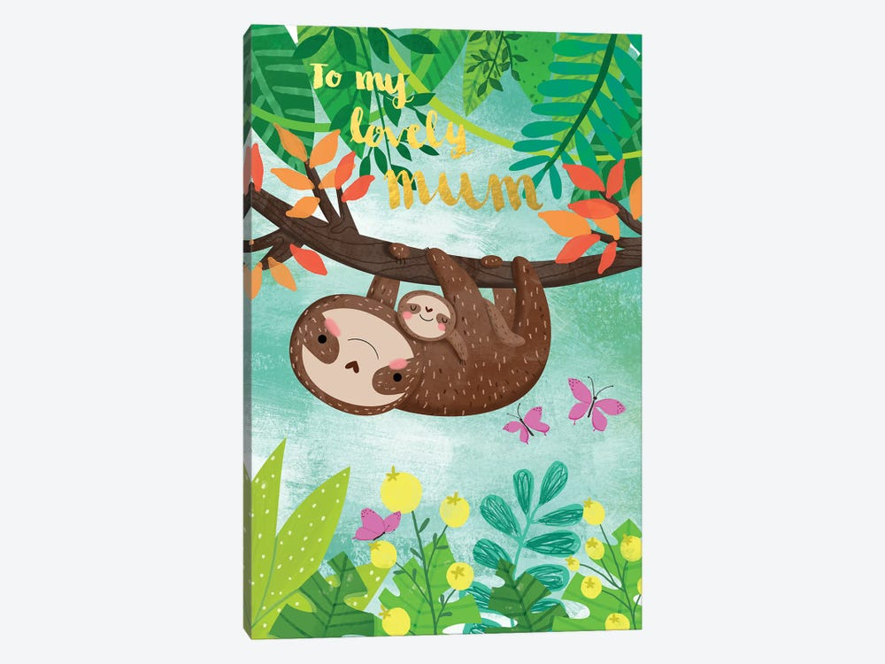 Sloth And Baby by A.V. Art 1-piece Canvas Artwork