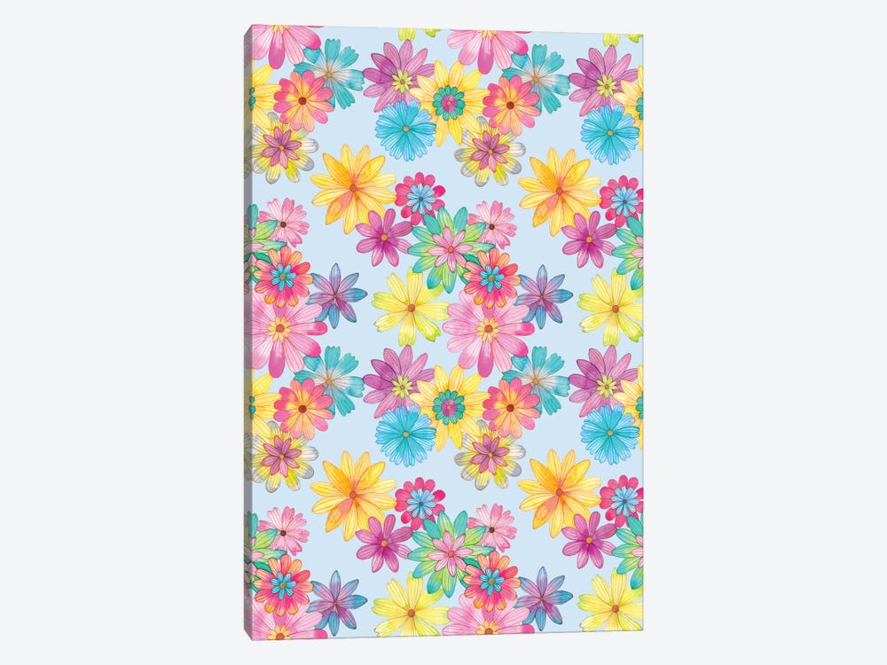 Floral Pattern by Ana Victoria Calderon 1-piece Canvas Wall Art