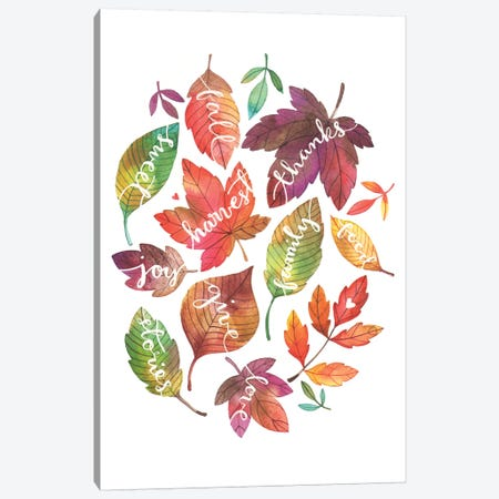 Harvest Leaves Canvas Print #AVC16} by Ana Victoria Calderón Canvas Art Print