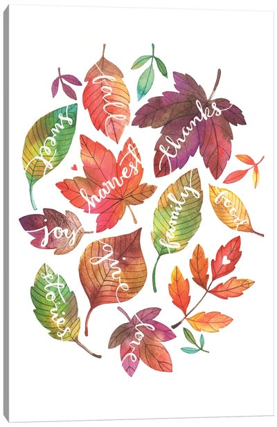 Harvest Leaves Canvas Art Print