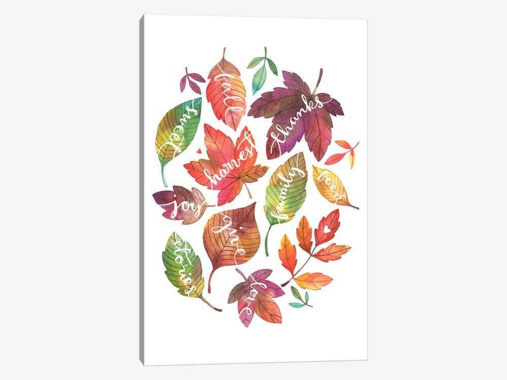 Harvest Leaves by Ana Victoria Calderon 1-piece Canvas Art Print