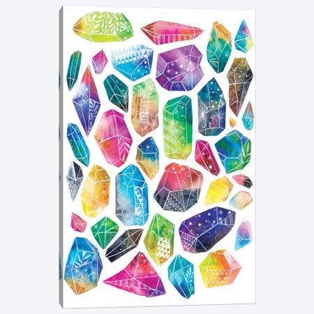 Healing Crystals Canvas Print #AVC17} by Ana Victoria Calderón Canvas Print