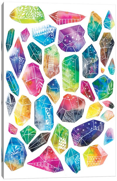 Healing Crystals Canvas Art Print