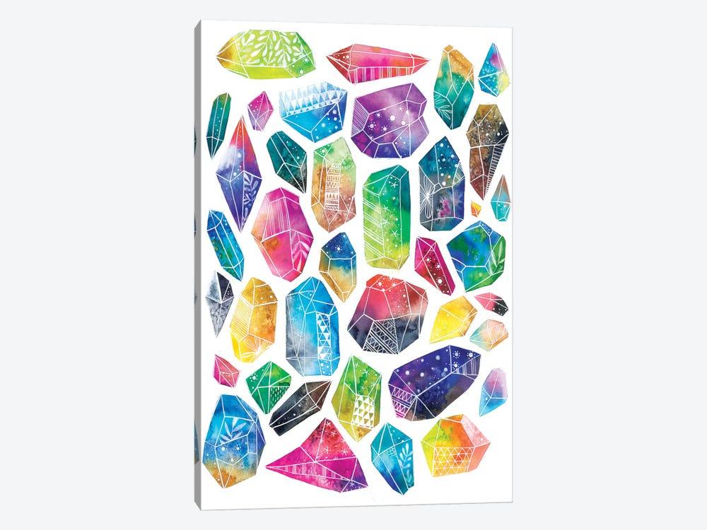 Healing Crystals by Ana Victoria Calderón 1-piece Canvas Artwork