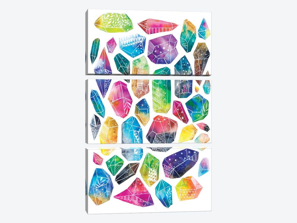 Healing Crystals by Ana Victoria Calderón 3-piece Canvas Wall Art