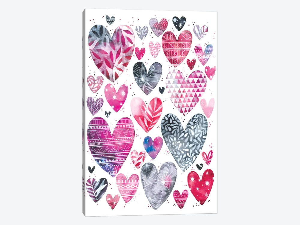 Hearts by Ana Victoria Calderón 1-piece Art Print