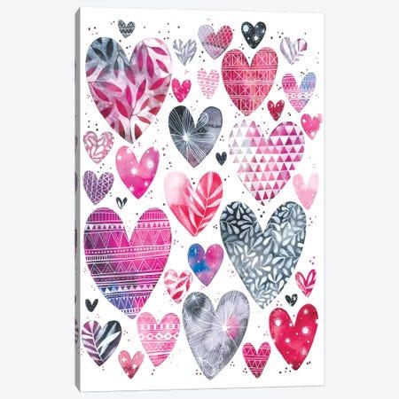 Hearts Canvas Print #AVC18} by Ana Victoria Calderón Canvas Artwork