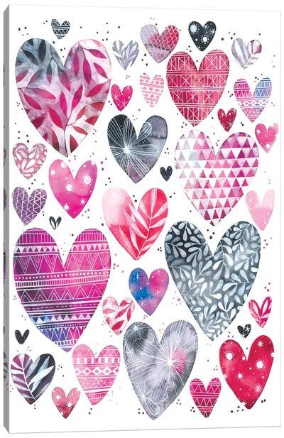 Hearts Canvas Art Print
